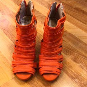 Orange BCBA heels. Size 8